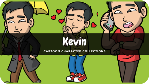 Kevin is a Asian male cartoon character.