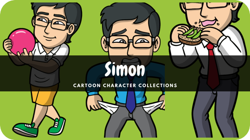 Simon is a male Aian cartoon character.